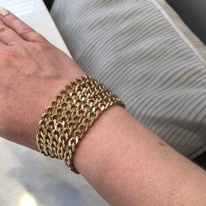New gold chain cuff bracelet